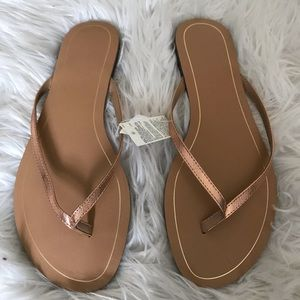 Banana Republic Rose Gold Sandles
